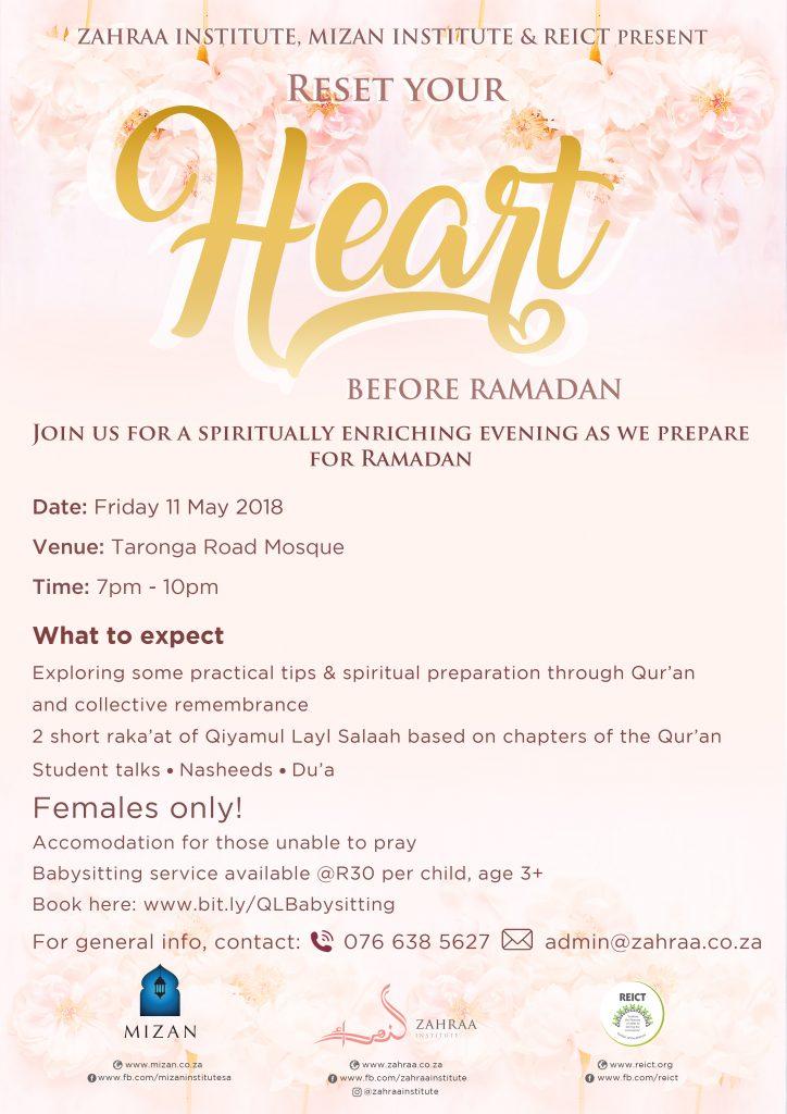 Reset your Heart before Ramadan