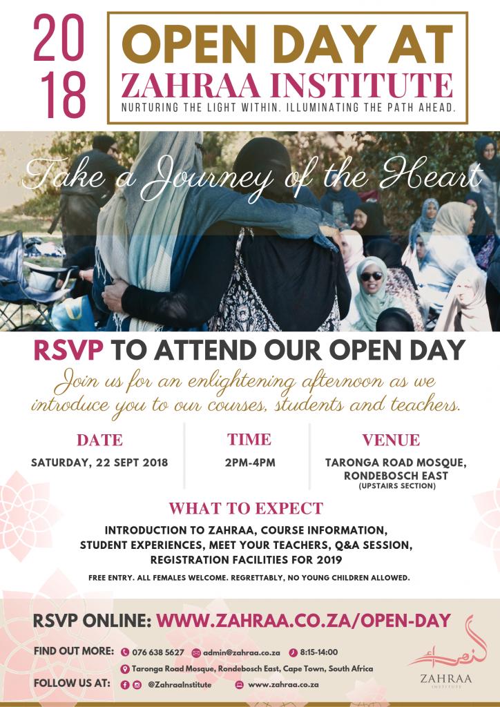 Open Day 2018 - Zahraa Institute