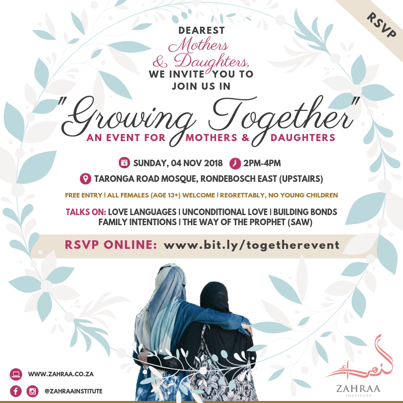 Growing Together: An event for Mothers & Daughters