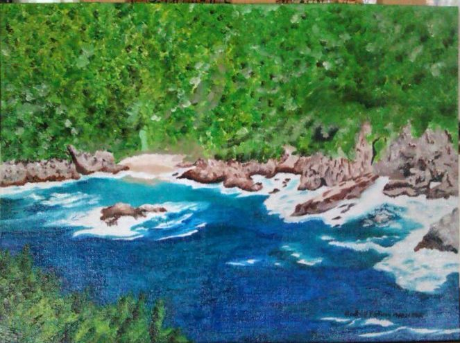 Knysna Forest | 2014 | Oil Panel Canvas painting | (10/14Inch) | 254×356mm | R800
