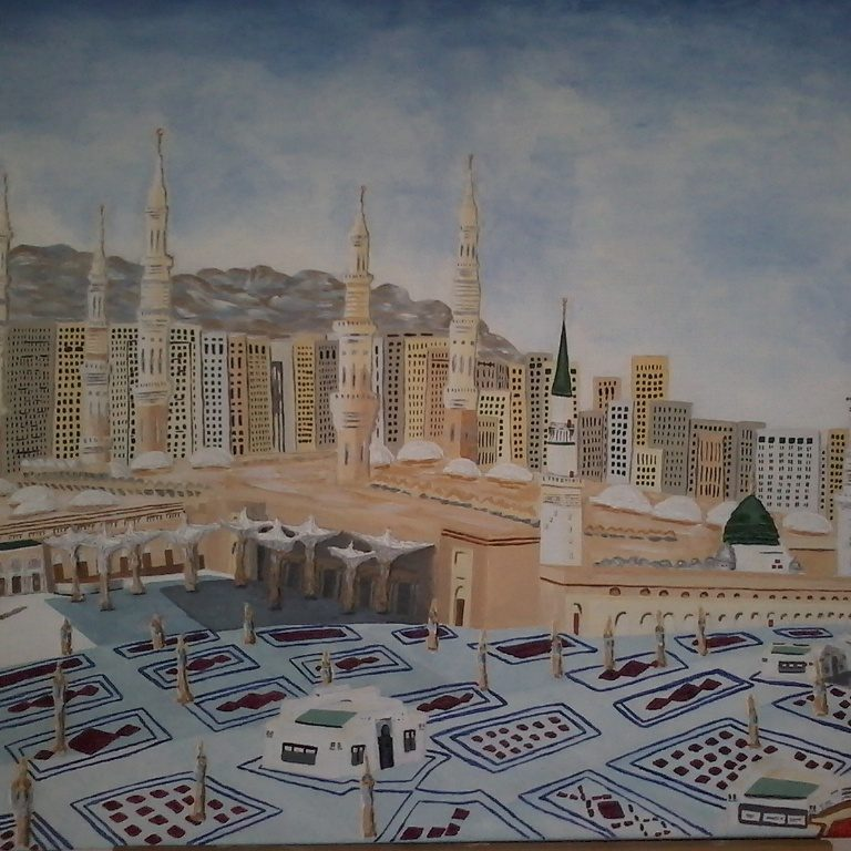 Madina Holy Mosque | 2015 | Acrylic canvas painting | (28/36 Inch) | 700×920 mm | R3000