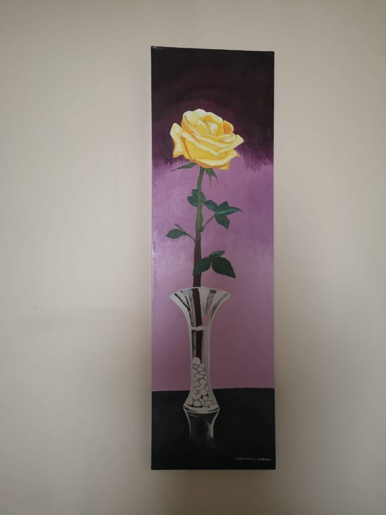 The Yellow Rose | 2013 | Acrylic canvas painting | (12/40 Inch) | 300×1020mm | R400