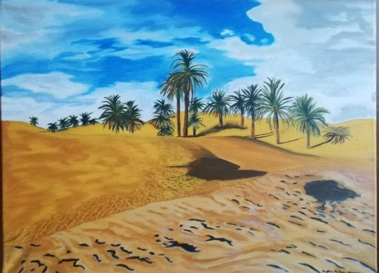 The amazing Oasis | 2012 | Acrylic canvas painting | (18/24 Inch) | A2 460×610 mm | R800